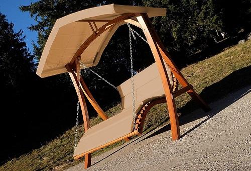 Balancín de madera de diseño para jardín (Hollywood)