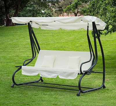balancin de jardin convertible en cama